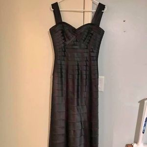 BCBG formal layered gown